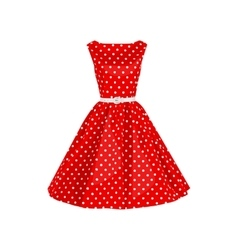 polka dot dress vector image
