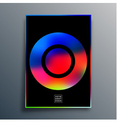 Poster with colorful gradient texture shape for vector