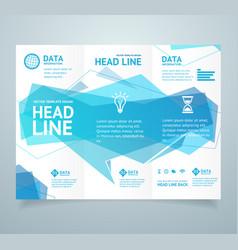 Realistic 3d detailed leaflet booklet vector