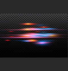 Red and blue special effect luminous vector