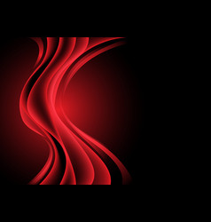 red light curve wave on black luxury vector image