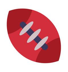 rugball american football equipment flat style vector image