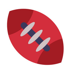 rugby ball american football equipment flat style vector image