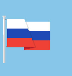 russia flag with copyspace vector image