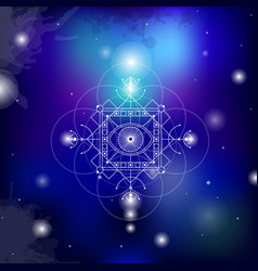 sacred geometry on space vector image