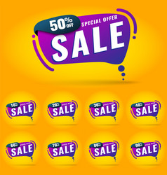sale tags set badges template neon vector image