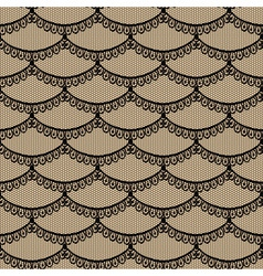 Seamless black scales lace vector