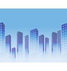 seamless skyscrapers vector image