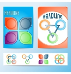 Set of abstract brochures flyers template design vector