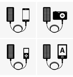 Solar powerbank vector image