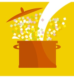 Soup pot vector