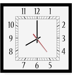 Square wall clock vector