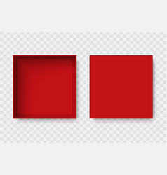 top view open blank box vector image