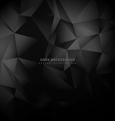Triangle low poly dark background vector