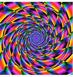 vivid spinning shapes vector image