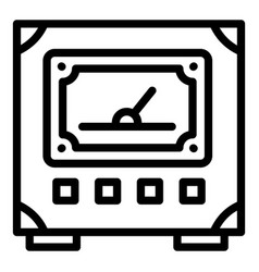 Voltmeter icon outline style vector