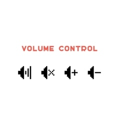 volume control set in pixel art vector image