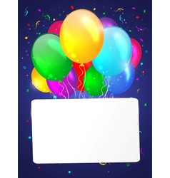 White background with multicolored balloons vector image