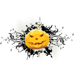 Grungy Floral Halloween Background vector image vector image