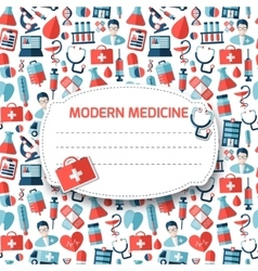 Pattern with medical icons vector image