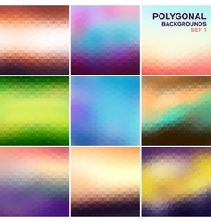 Polygonal backgrounds set vector image vector image