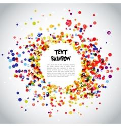 Rainbow Circle Pattern Background vector image