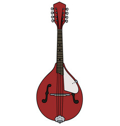 Red country mandolin vector