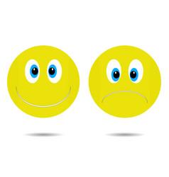 smiley cheerful and sad vector image