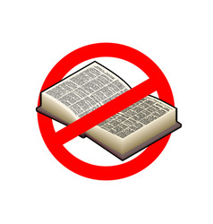 stop read it is forbidden to education red vector image vector image