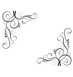 abstract floral black decorative element frame vector image vector image