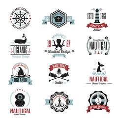 Fashion nautical logo sailing themed label or icon vector