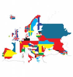 flags world map vector image
