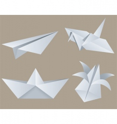 origami vector image vector image