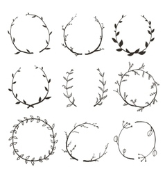 Rustic Laurel and Wreath Collection for Design vector image vector image