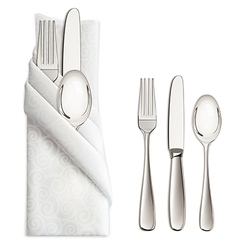 Silverware or flatware set of fork spoon and knife vector image