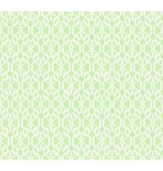 White Forged Seamless Pattern on green background vector image