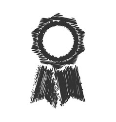 badge grunge vector image