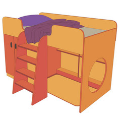 bed kids icon design isolated furniture bedroom vector image