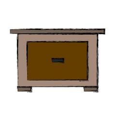 bedside table wooden furniture room vector image