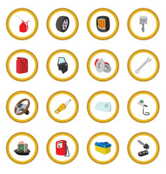 car service maintenance cartoon icon circle vector image