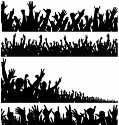 crowd foregrounds vector image