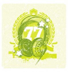 dj studio headphones vector image vector image