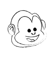 happy smiling monkey cartoon icon image vector image vector image