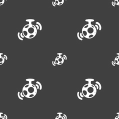 mirror ball disco icon sign Seamless pattern on a vector image