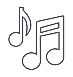 music note sign line icon sign vector image vector image