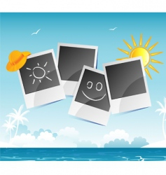 summer photo vector image vector image