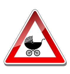 A warning sign baby vector image vector image