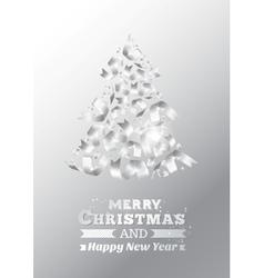 Abstract ribbon christmas tree vector image vector image