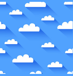 clean flat cloud seamless background vector image