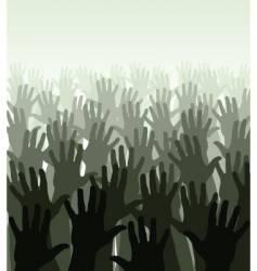 hand sea vector image vector image
